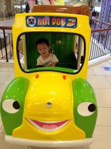 riding car